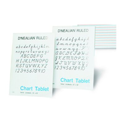 Pacon Corporation D Nealian Chart Tablet Manuscript