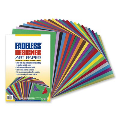Pacon Corporation Fadeless Designer Sheets, 100 Sheets, 12&quot;x18&quot;, Assorted