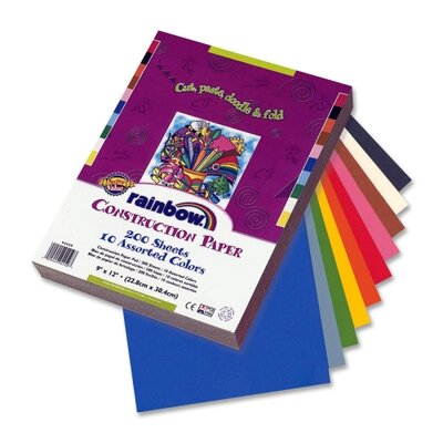 Pacon Corporation Economy Construction Paper, 9&quot;x 12&quot;, 200/PK, Assorted