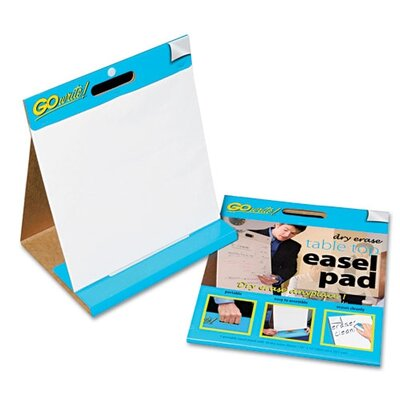 Pacon Corporation Gowrite Dry Erase Table Top Easel Pad, 16 X 15, 4 10-Sheet Pads/Carton