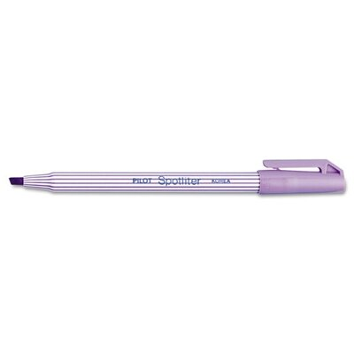 Pilot Pen Corporation of America Spotliter Highlighter, Chisel Point, Pocket Clip, Fluorescent Purple, 12/Pk