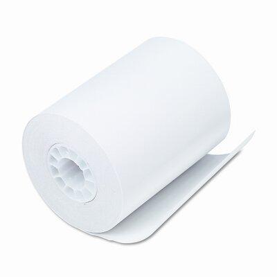 "PM Company Thermal Receipt Cash Register/POS Rolls, 2-1/4""w, 80'l, White, 50/carton"