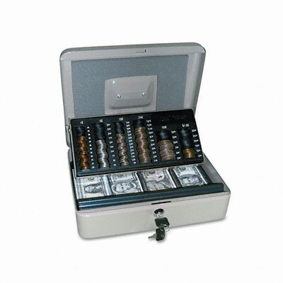 PM Company 3-In-1 Cash-Change-Storage Steel Security Box
