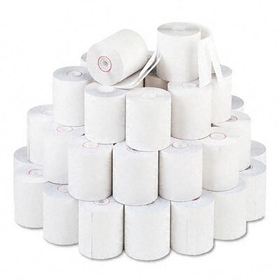 PM Company Paper Roll, Two-Ply Receipt Rolls, 50/Carton