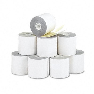 "PM Company 2-Ply Printer Roll for Verifone 420/460, 2-1/4""w, 70'l, White/Canary, 10/ctn"