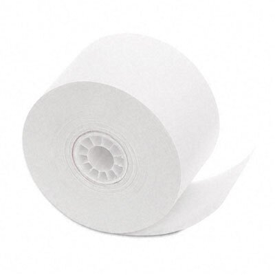 PM Company Cash Register/POS Bond Receipt Rolls, 1-3/4&quot;w, 150'l, White, 10/pk                                                           