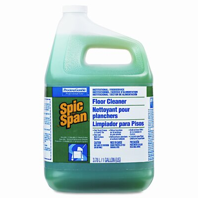 Procter & Gamble Commercial Spic and Span Liquid Floor Cleaner, 3/Carton