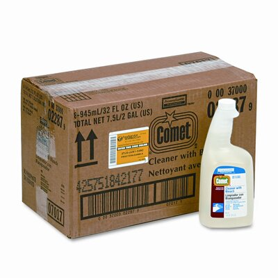 Procter & Gamble Commercial Comet Cleaner w/Bleach, 32oz. Trigger Spray Bottle, 8/carton