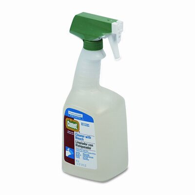 Procter & Gamble Commercial Comet Cleaner w/Bleach, 32oz. Trigger Spray Bottle