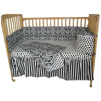 Tadpoles Damask Tadpoles Crib Bedding Set