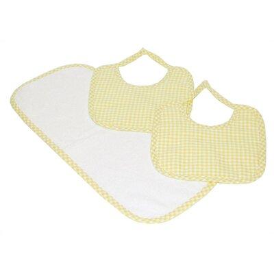 Tadpoles Classics Three Piece Bib & Burp Cloth Gift Set in Yellow