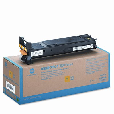 Konica Minolta A06V233 Laser Cartridge, High-Capacity, Yellow