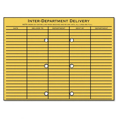 Quality Park Products Brown Kraft Resealable Redi-Tac File-Style Interoffice Envelope, 12 x 9, 100/box