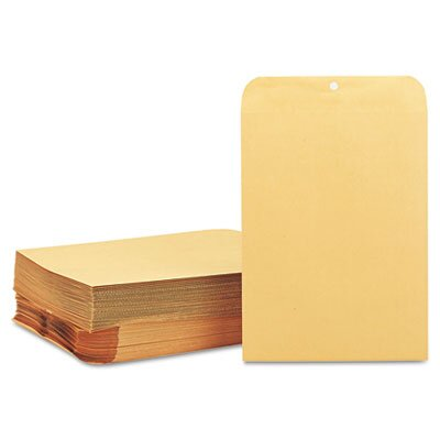 Quality Park Products Clasp Envelope, 9 x 12, 28lb, Light Brown, 100/box