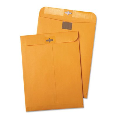 Quality Park Products Postage Saving Clasp Kraft Envelope, 100/Box