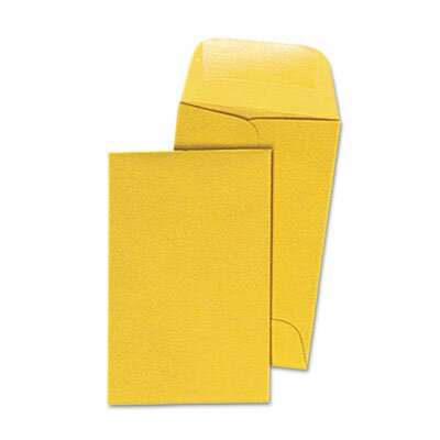 Quality Park Products Kraft Coin and Small Parts Envelope, Side Seam, #1, Light Brown, 500/box