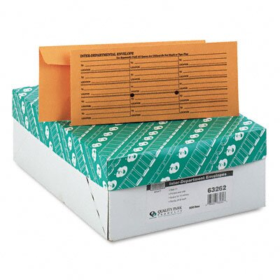 Quality Park Products Fold Flap Kraft Trade Size Interoffice Envelope, #11, 500/Box