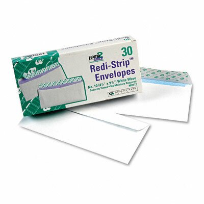 Quality Park Products Redi-Strip Security Tinted Envelope, Contemporary, #10, White, 30/box