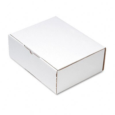 Quality Park Products Corrugated Cardboard Die-Cut Folded Mailing Box, 8-3/4 x 11-1/4 x 4, White