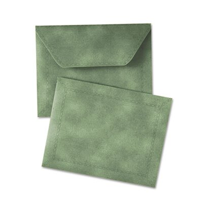 "Quality Park Products Document Carrier, Letter, 2"" Expansion, Green, 1/ea"