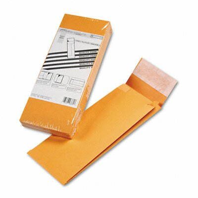 Quality Park Products Redi-Strip Kraft Expansion Envelope, Side Seam, 5 x 11 x 2, Brown, 25/pack