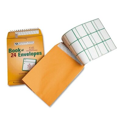 "Quality Park Products Envelopes, w/ Redi-strip, 9""x12"", 24 per Pack, Yellow"