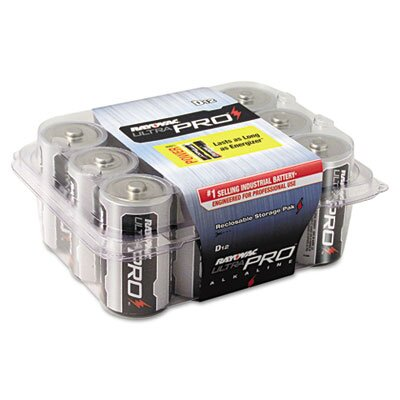 Rayovac® Ultra Pro D Alkaline Battery, 12/Pack