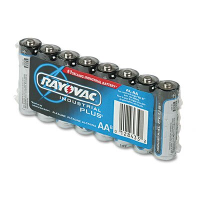 Rayovac® Industrial PLUS Alkaline Batteries, AA, 8/Pack