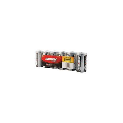 Rayovac®  D Alkaline Battery (6 Per Package, 12 Packages Per Case)