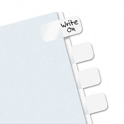 Redi-Tag Corporation Side-Mount Self-Stick Plastic Index Tab, One Inc, 104/Pack
