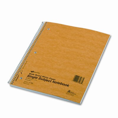 Rediform Office Products Subject Wirebound Notebook, Wide/Margin Rule, 80 Sheets/Pad