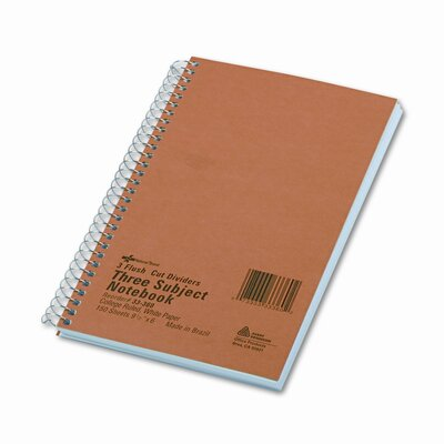 National® Brand 3-Subject Wire bound Notebook, 150 Sheets