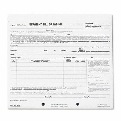 Rediform Office Products Bill of Lading Short Form, 250 Form Sets/Pack