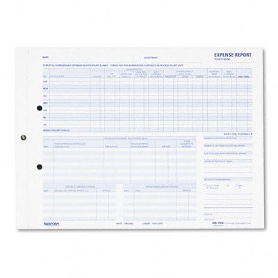 Rediform Office Products Expense Report for Recording Maximum Detail, 50 Form Sets/Pack