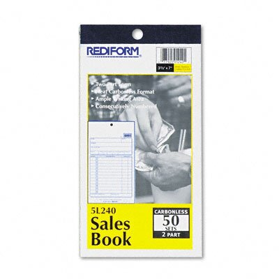 Rediform Office Products Sales Book, 3-5/8 X 6 3/8, 50 Sets/Book