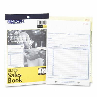 Rediform Office Products Sales Book, 5 1/2 X 7 7/8, 50 Sets/Book