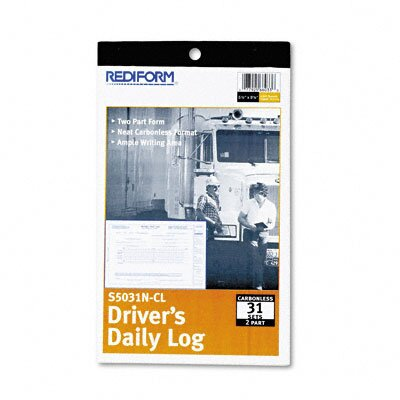 Rediform Office Products Driver's Daily Log, 31 Sets/Book