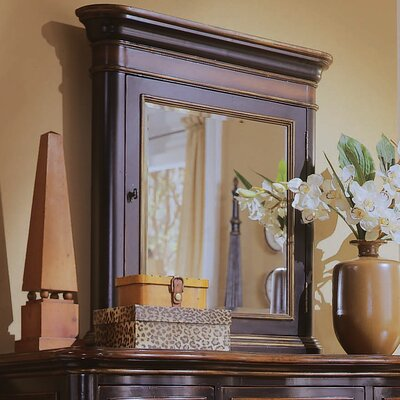 Cole + Company Potomac Square Jewelry Vanity Mirror with Storage