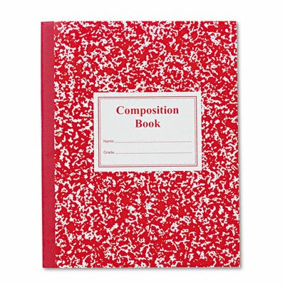 Roaring Spring Paper Products Grade School Ruled Composition Book, 9-3/4 x 7-3/4, 50 Sheets, Red
