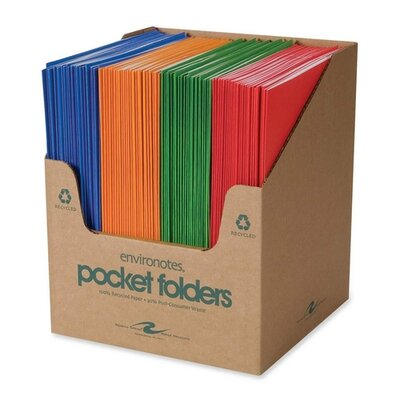 "Roaring Spring Paper Products Two Pocket Folders, 11-3/4""x9-1/2"", 100 per Carton, Fashion Assorted"