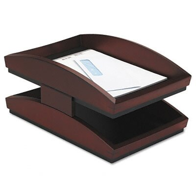 Rolodex Corporation Executive Woodline II Letter Desk Tray