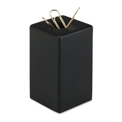 Rolodex Corporation Wood Tones Paper Clip Holder, Wood, 2 1/8w x 2 1/8d x 3 1/2h, Black