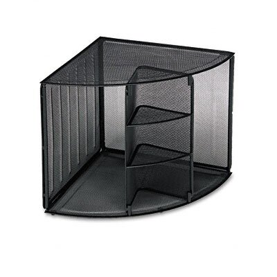 Rolodex Corporation Mesh Corner Desktop Shelf
