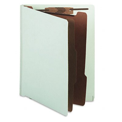 S&J PAPER Pressboard End Tab Classification Folder, Letter
