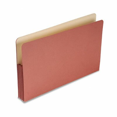 "S&J PAPER 3 1/2"" Expansion File Pockets, Straight Cut, MLA/Redrope, Legal, Redrope, 50/Box"