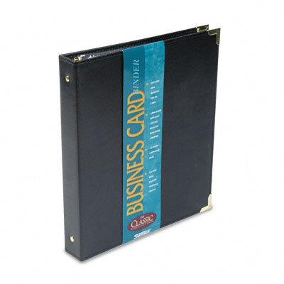 Samsill Corporation Vinyl Business Card Binder Holds