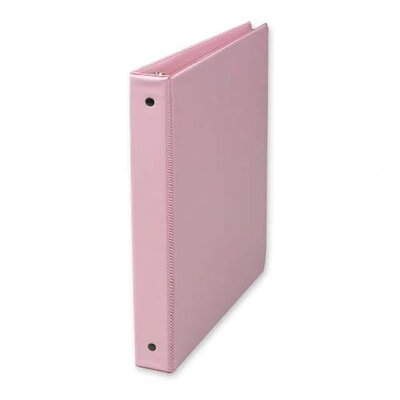 "Samsill Corporation 3-Ring Binder, w/ 2 Pockets, 1"", Flexible Hinge, Pink"