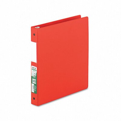 Samsill Corporation Antimicrobial Locking Round Ring Binder, 8-1/2 x 11, 1in Capacity, Red