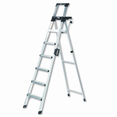 Cosco Eight-Foot Lightweight Aluminum Folding Step Ladder with Leg Lock and Handle