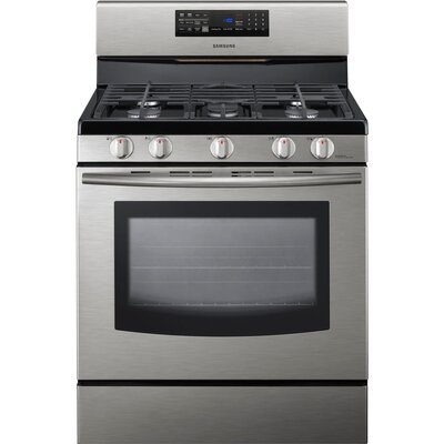 Freestanding Gas Range with Fan Convection Cooking in Stainless Steel